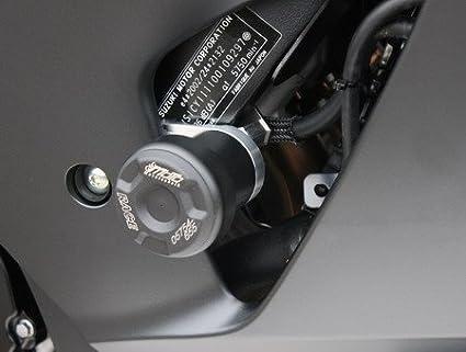 Satz GSG Moto Sturzpads Suzuki GSX-R 1000 09-16 m schwarz eloxierten Halteplatten