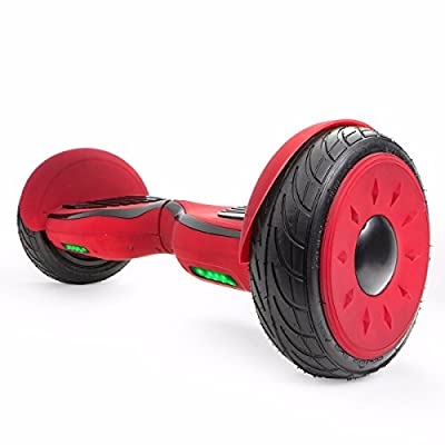"""XtremepowerUS 10"""" Electric Scooter, Self-balancing Hoverboard w/ Bluetooth Speaker (Matte Red) from XtremepowerUS"""