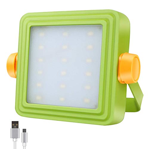 STASUN Portable LED Work Light, 10W Rechargeable Outdoor Flood Light with 8800mAh Battery and Indicator, 5 Modes, Spotlight for Camping, Working, Car Repairing, Workshop and More