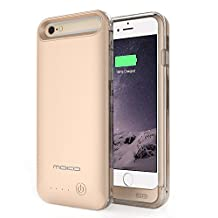 MoKo iPhone 6s / 6 Battery Case - Portable 3100mAh Battery Pack External Rechargeable Protective Charger Charging Case for iPhone 6s / 6 4.7 Inch [MFI Apple Certified][Lifetime Warranty] GOLDEN