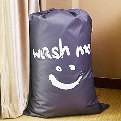 QUAN Storage Bags ホームキルト服旅行ナイロンコードのスマイルフェイスパターンは、収納袋を並べ描画品質再利用可能なバッグ(グレー) (Color : Grey)