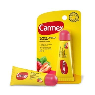 Carmex Daily Care Lip Balm Strawberry SPF 15 0.35 oz (Tube in Blister Pack)