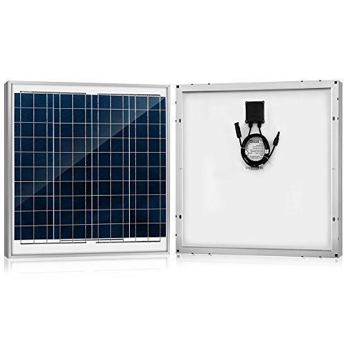 - ACOPOWER 60 Watt 60W Polycrystalline Photovoltaic PV Solar Panel Module MC4 12 Volt Battery Charging