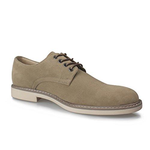 Hawkwell Herren Brogue/Oxford Schnürhalbschuhe Lace-Up Shoes for Men's Cremefarben