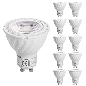 DEWENWILS 10 Pack Dimmable GU10 LED Bulbs, 2700K Warm White Spotlight, 350LM Recessed Lighting Bulbs, 5W(50W Halogen…