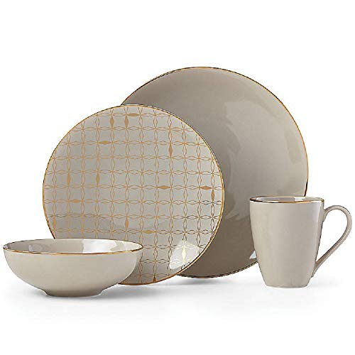 Lenox 885161 Trianna Taupe 4 Piece Place Setting