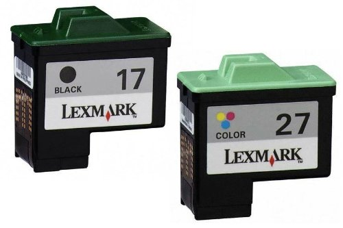 New #17/#27 Blk and Clr Print CtgsMid Yld (combo pack) by Lexmark