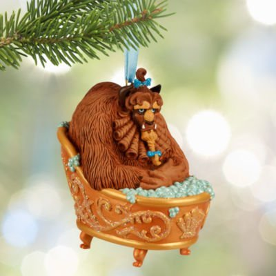 official disney bathing beast hanging ornament beauty and the beast christmas decoration - Disney Beauty And The Beast Christmas Decorations