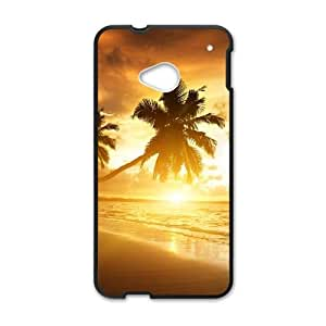 Palm Tree HTC One M7 Cell Phone Case Black O4497856