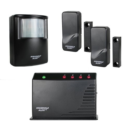Skylink HA-400 Wireless Long Range Household Alert Deluxe Home Business Office Child Safety Protection Motion Window Door Alert & Alarm Security Indoor Outdoor Infrared Detector System Kit by Skylink