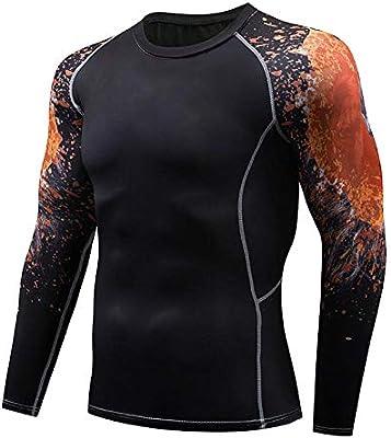 WTFYSYN Hombres Flacos compresión Apretada,Ropa de Abrigo para Hombre, Camiseta Larga Abierta, Ropa Interior de compresión Larga de Invierno de Secado rápido-W_XXL: Amazon.es: Deportes y aire libre