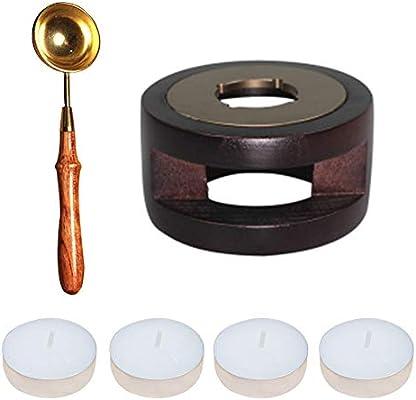 Kit de calentador de cera con sello de cera para horno, cuchara ...