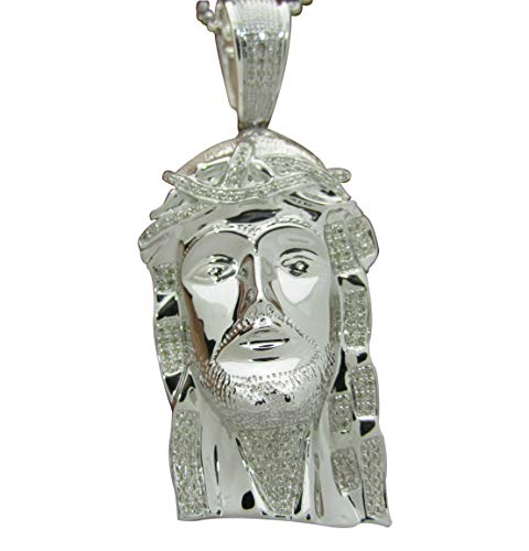 Sterling Silver Diamond Jesus Cross Pendant (0.53cttw, H-I Color, SI2-I1 Clarity) 2.5