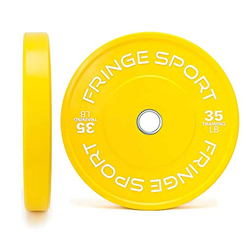 OneFitWonder Color Bumper Plate Pairs (10lb - 55lb) / Color-Coded to Easily Distinguish Weights/Weight Training, Crossfit, and (35)