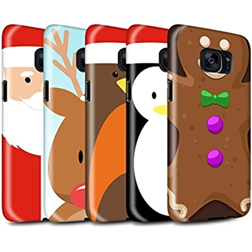 STUFF4 Gloss Tough Shock Proof Phone Case for Samsung Galaxy S7/G930 / Pack 6pcs / Christmas Character Collection Sales