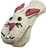 Nirvanna Designs MTBUN Bunny Puppet Mittens, White, Toddler