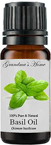 Grandma's Home Essential Oils - 100% Pure Therapeutic Grade (Basil, 10 mL)