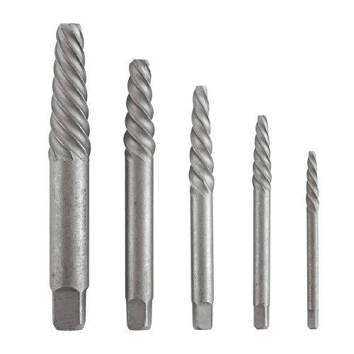 5 Piece Spiral (Vermont American 21822 - 5 Piece Spiral Screw Extractor Set No. 1 through No. 5 by Vermont)
