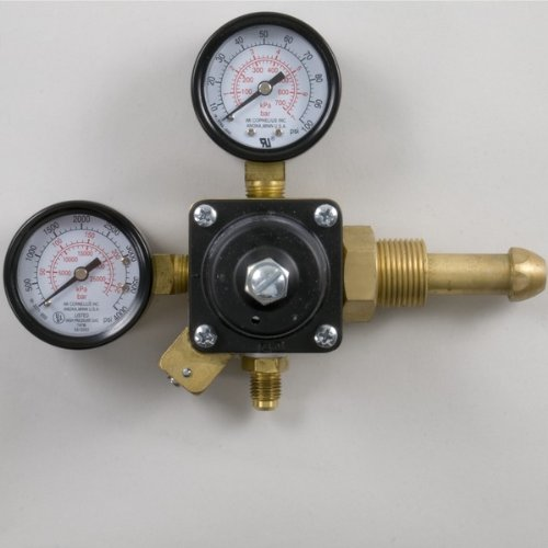 Nitrogen Gas Cylinder High Pressure Dual Gauge Regulator With Check Valve For Home Brew Keg Systems