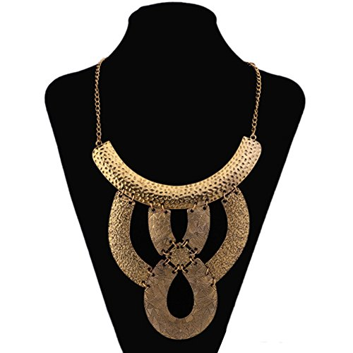 Punk Women's Exaggerate Snake Skin Style Alloy Chunky Chain Necklace Jewelry