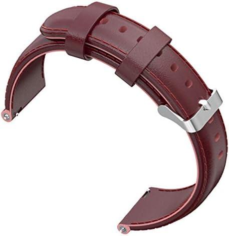 Balacoo 化石第4世代の時計バンドの牛革の革に対応22 Mm腕時計ストラップの交換可能化石第4世代のクラレットと互換性あり