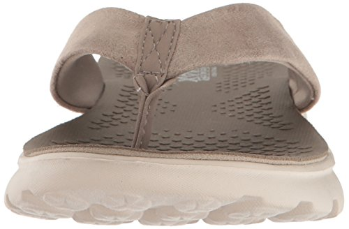 Skechers On-the-Go 400-Essence 14658/TPE Damen Pantolette bis 30mm Absatz Beige