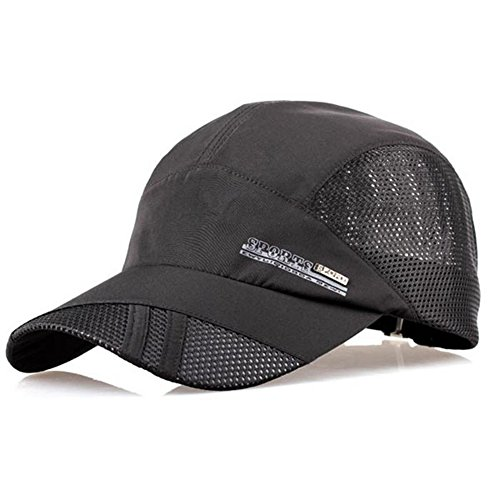 Men Funny Womens Cap - YING LAN Men's Autumn Outdoor Sport Baseball Hat Running Visor Sun Cap Black