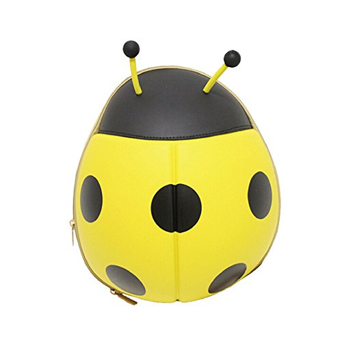 Urchart Kids Trips Birthday Gift Cute Cartoon Bumblebee Bee Ladybug Shaped Backpack School Bag (Yellow Ladybug)]()