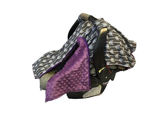 BayB Brand Car Seat Cover - Grey Arrows w/ Purple by BayB Brand