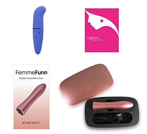 New! Femme-Funn * Bougie * Ultra-Massager Bundle Package - Includes Diary Booklet & BL Brand Mini Massager FF: 7801