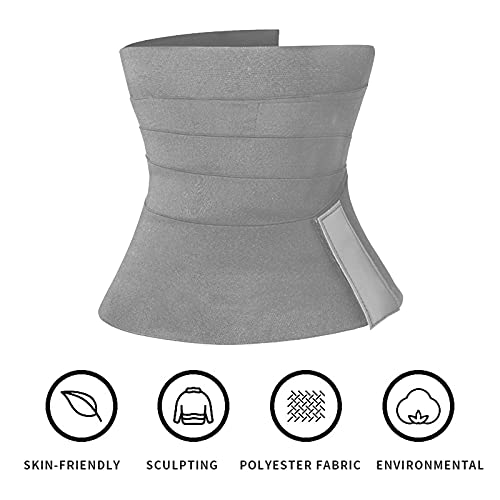 Bluecatlala Invisible Wrap Waist Trainer Tape for Women -Wrap Lumbar Waist Support Belt Back Support Belt for Lower Back Pain Relief (Gray-5, 5 Meters)