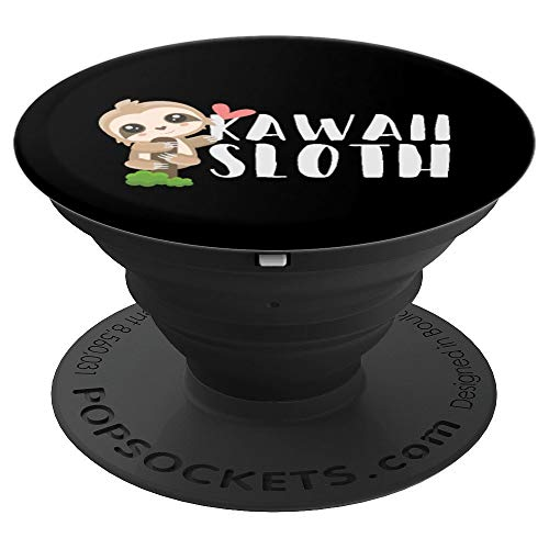 Cool Kawaii Sloth - Japanese Anime Manga Chibi Animal Lover PopSockets Grip and Stand for Phones and -