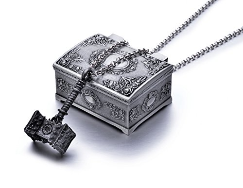 World of Warcraft Orgrim Doomhammer Metal Pendant Necklace w/Jewelry Box Collection