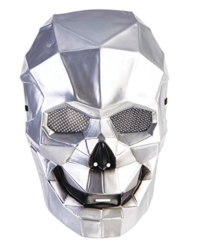 Forum Novelties X78658 Cyborg Skull Mask, Unisex-Adult, Silver, One -
