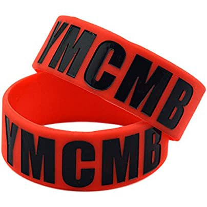 Hjyi Silicone Wristbands Rubber Bracelets Silicone Bracelet YMCMB 1-inch Sports Wristband Creative Gift Set Pieces Birthday Gift Estimated Price £21.99 -