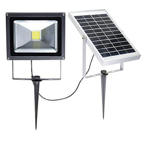 W-LITE 20W LED Solar Flood Lights Outdoor, Waterproof Sec...