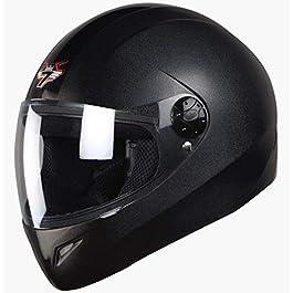 Steelbird SB-37 7Wings Full Face Helmet Dashing Black with Plain Visor Large 600 MM