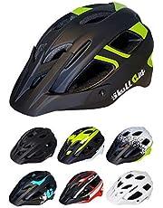Skullcap® Fahrradhelm ♦ MTB Helm ♦ Mountainbike Helm ♦ Herren & Damen ♦ Sport Helm für Inliner S-Pedelec & Roller ♦ 7 Designs ✚ Visier für Männer & Frauen