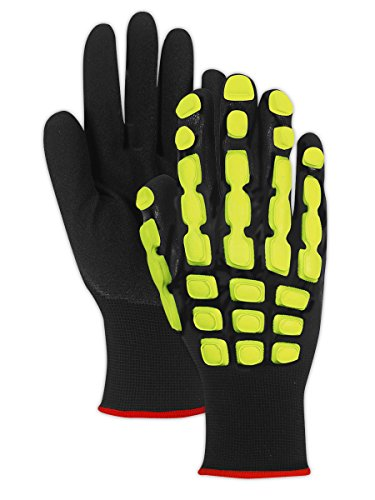 Magid Glove & Safety TRX100L T-REX TRX100 Multipurpose Impact Glove, Black, Large, Polyester (Pack of 12) by Magid Glove & Safety (Image #3)