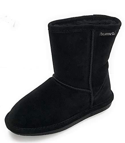 BEARPAW Women's Emma Short Boot,Black,8 M US ()