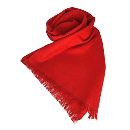 "[2017 New Year Gift] Nita Jinsanta 100% Natural Plain Mulberry Silk Scarf Red 71""x12"""