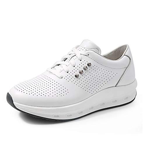 Zapatos de Mujer Zapatos de Sacudida a Prueba de Agua de Cuero nuevos/Zapatos de Viaje Ocasionales de Las señoras/Zapatos Antideslizantes de Fondo Grueso Un