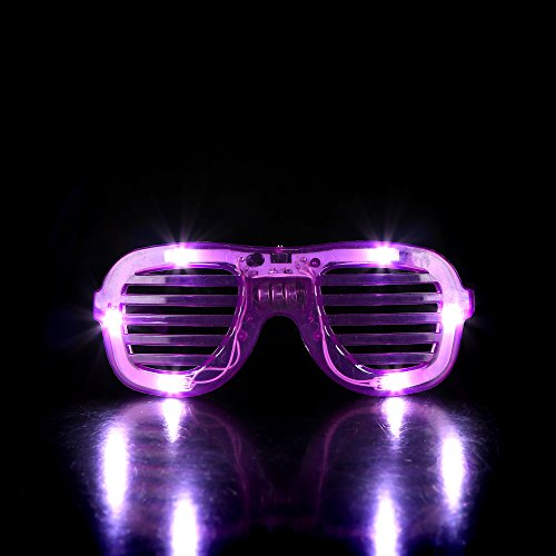 LED Slotted Shades - Purple (Led Shutter Shades)