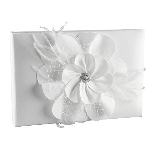 Ivy Lane Design Somerset Collection Guest Book, White (Guest Book Collection Princess)