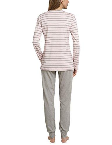 Schiesser 158517, Pijama para Mujer rojo (rosé 506)