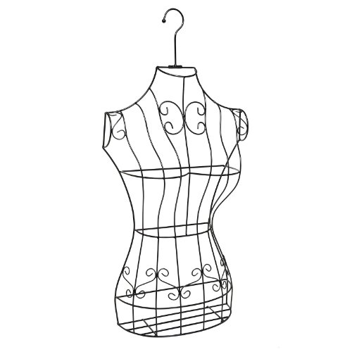 Black Metal Wire Frame Freestanding Display Stand/Hanging Dress Form Mannequin Decor w/Garment Bag