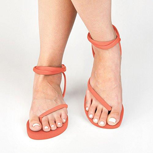 Orange Flip Wedding Sandal Perfect Costa Ankle Insanely Handmade Sandals Flops Crush Beach Summer In With Sandals Gladiator Rica Flops or Sandals Comfortable Strap WomenÕs Flip FLEEPS HpRqtt