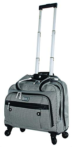 Nicole Miller Taylor Carry On Spinner Briefcase (Taylor Black/White Plaid) ()