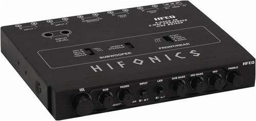 Hifonics HFEQ 4-Band EQ/2-Way Crossover Line Driver - Eq Crossover
