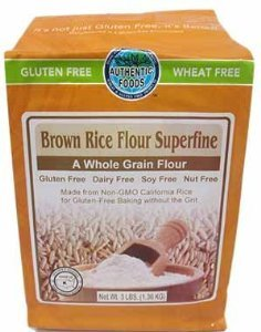 Authentic Foods Gluten Free Brown Rice Flour Superfine -- 3 (Authentic Foods Gluten Free)
